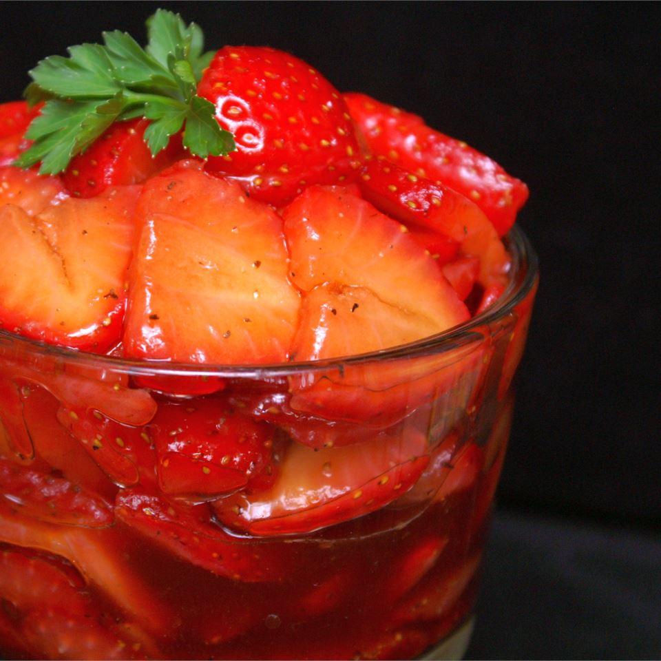 Sweet and Tart Strawberry Salad Melissa Goff