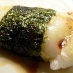 Broiled Mochi with Nori Seaweed