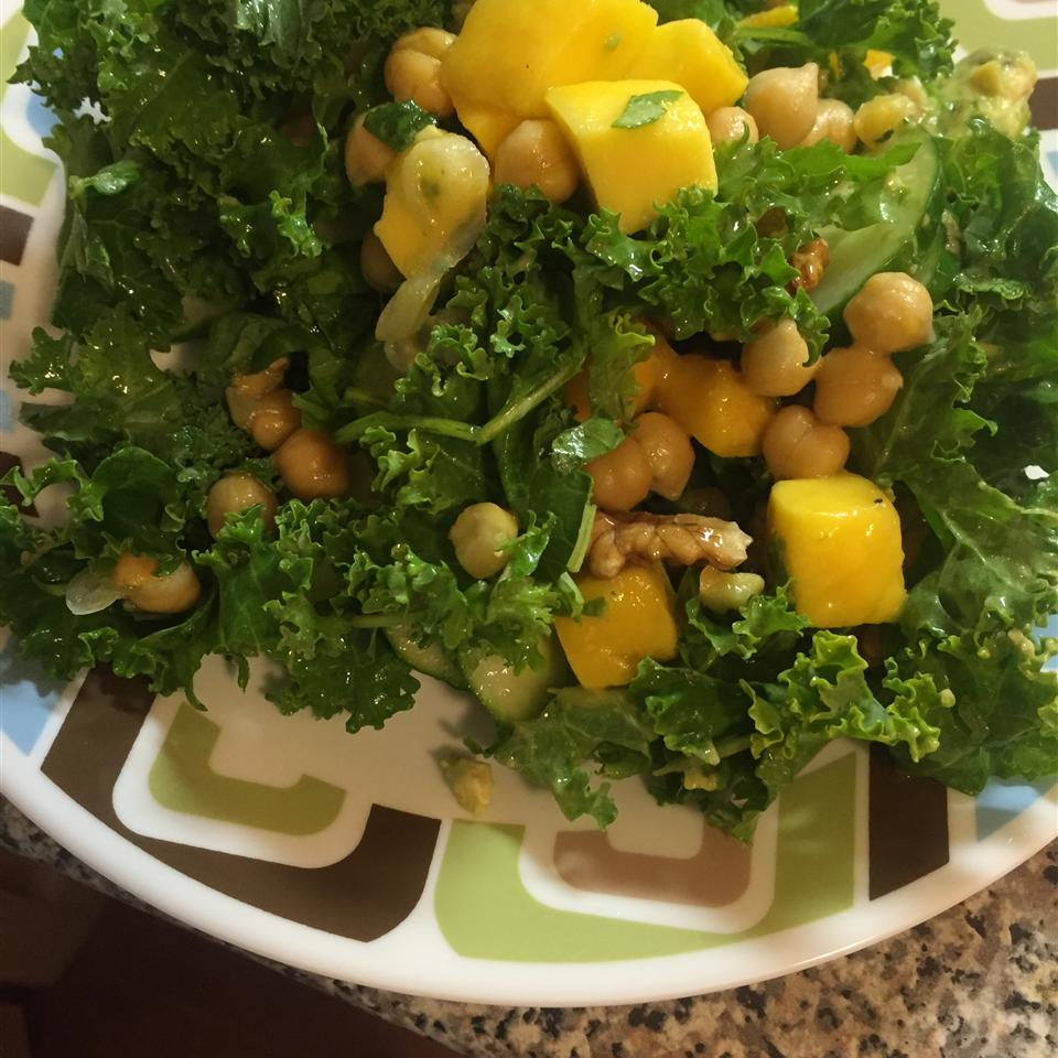 Summer Kale, Avocado, Mango, and Chickpea Salad with Citrus Poppy Seed Vinaigrette Neeti Mittal