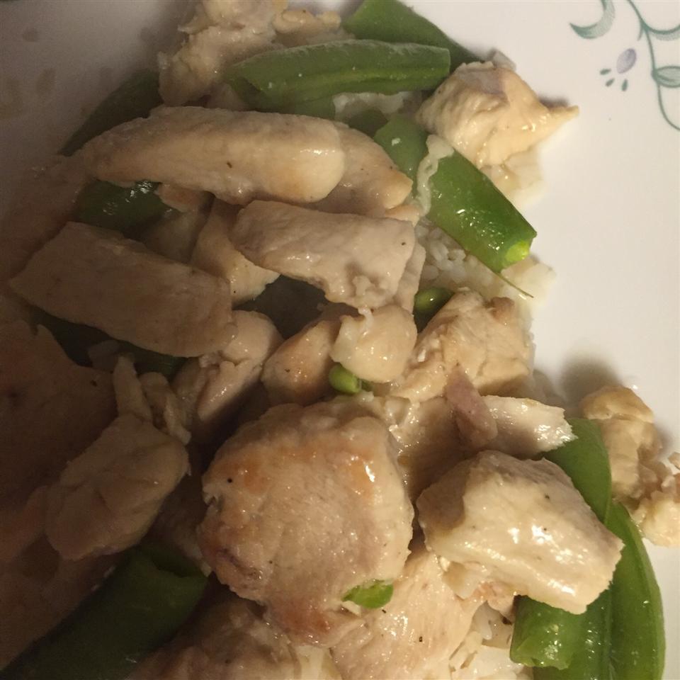 Pea Shoots and Chicken in Garlic Sauce Jill Mordovanec