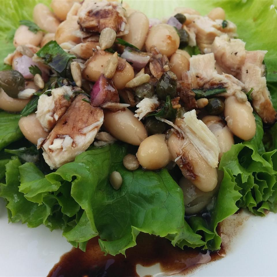 Tuna and White Bean Lettuce Wraps with Balsamic Syrup Chef Mo