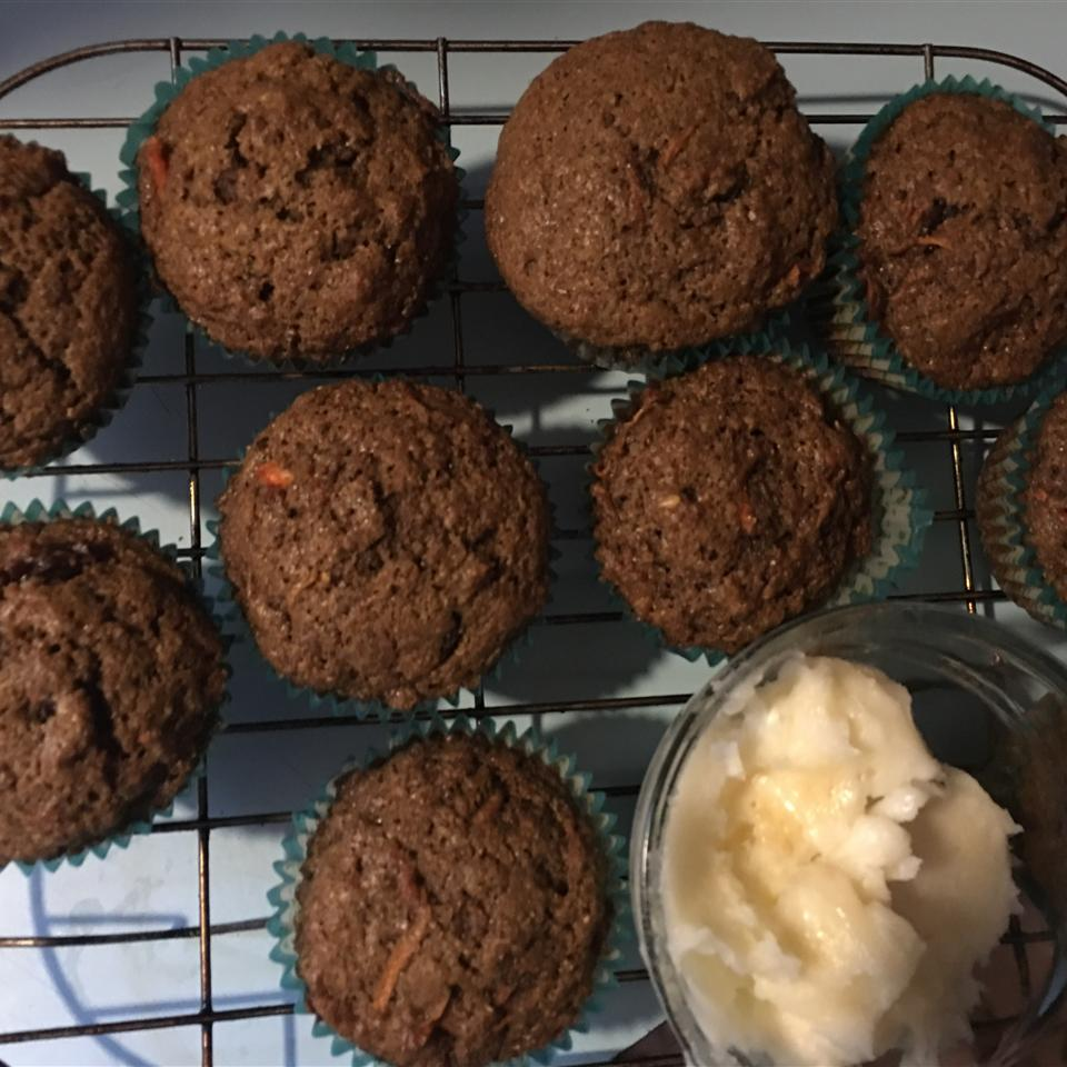 Fluffy Carrot Muffins with Cream Cheese Frosting