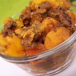 Sweet Potatoes with Sausage and Peppers pomplemousse