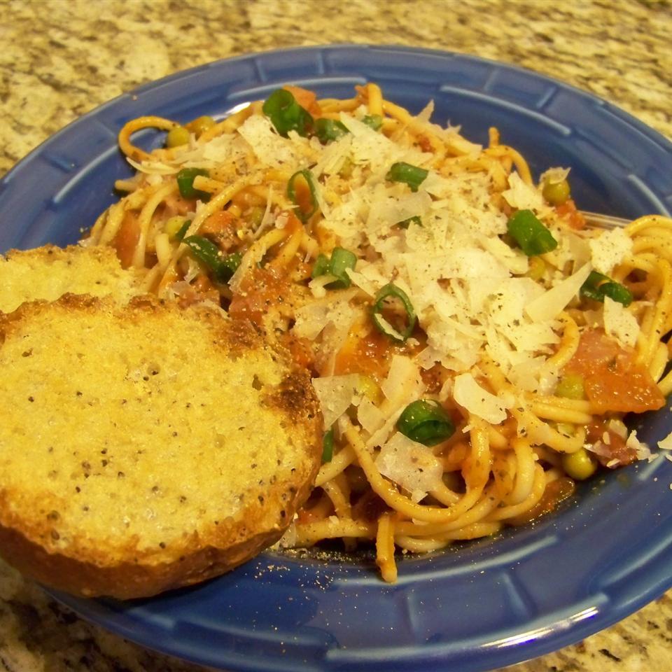 Pasta with Bacon and Peas Maureen Karamales