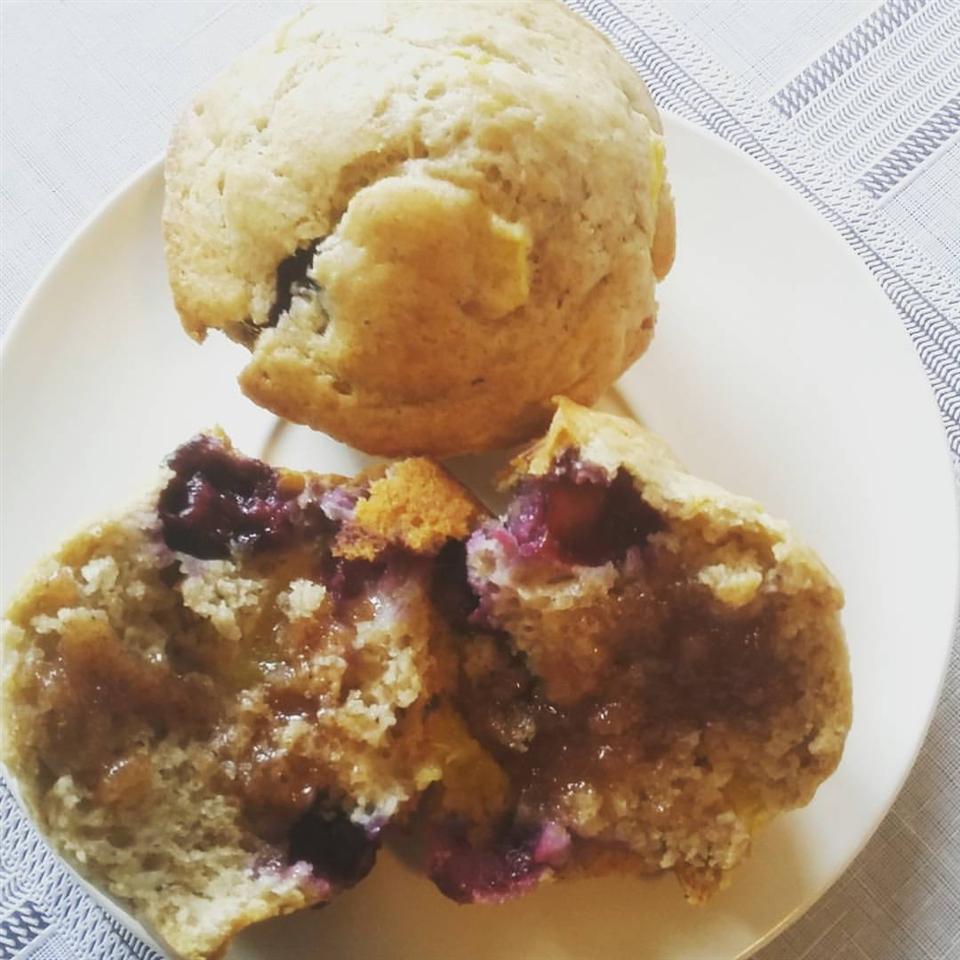 Blueberry Peach Muffins Debrizzy Palma Lawrence