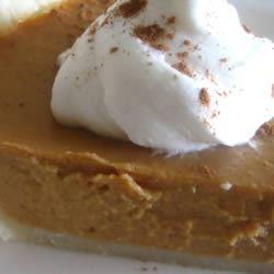 Vanilla Pumpkin Pie Irene Y