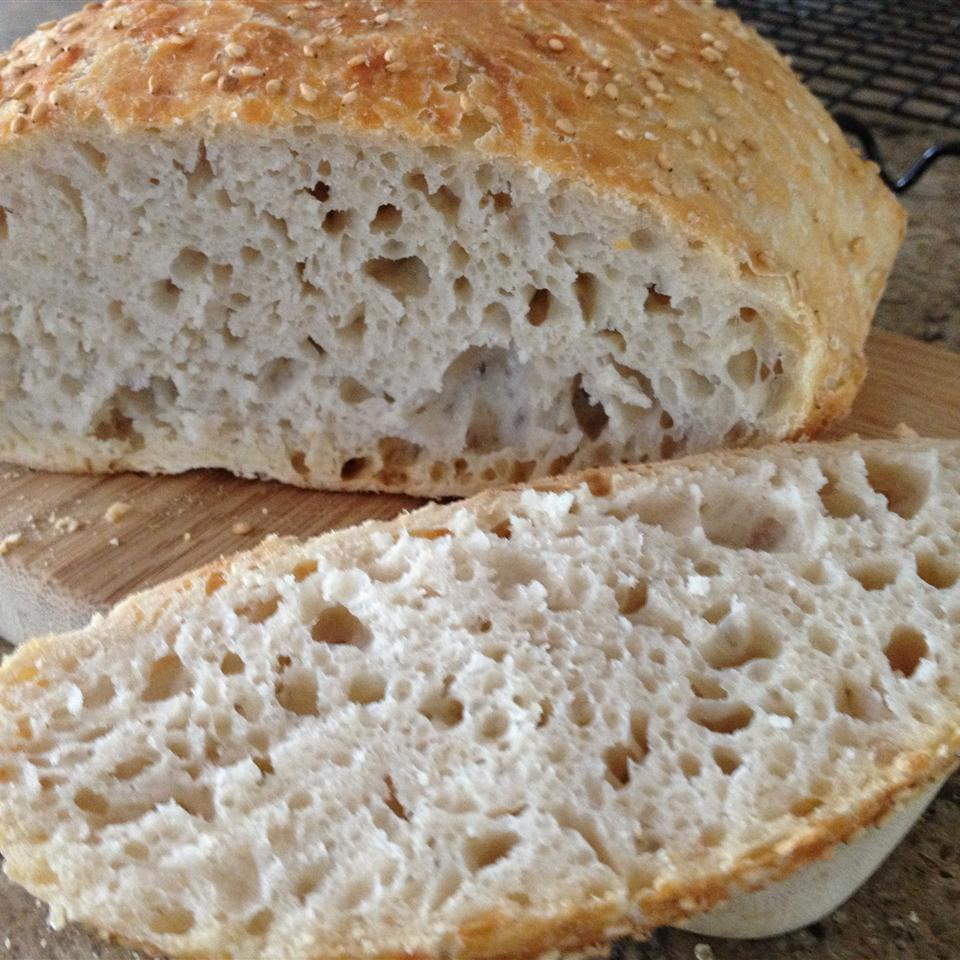 No-Knead Artisan Style Bread atbarber