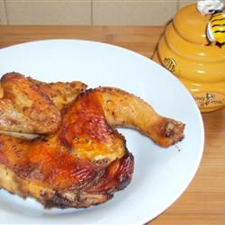 Honey-Poppy Seed Cornish Hens