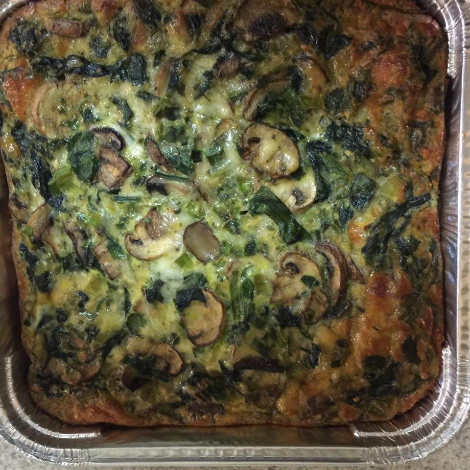 Spinach Mushroom Quiche nicnac21