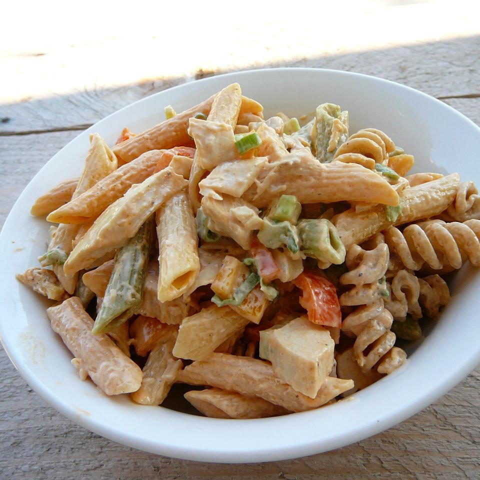 Buffalo Chicken Pasta Salad Molly