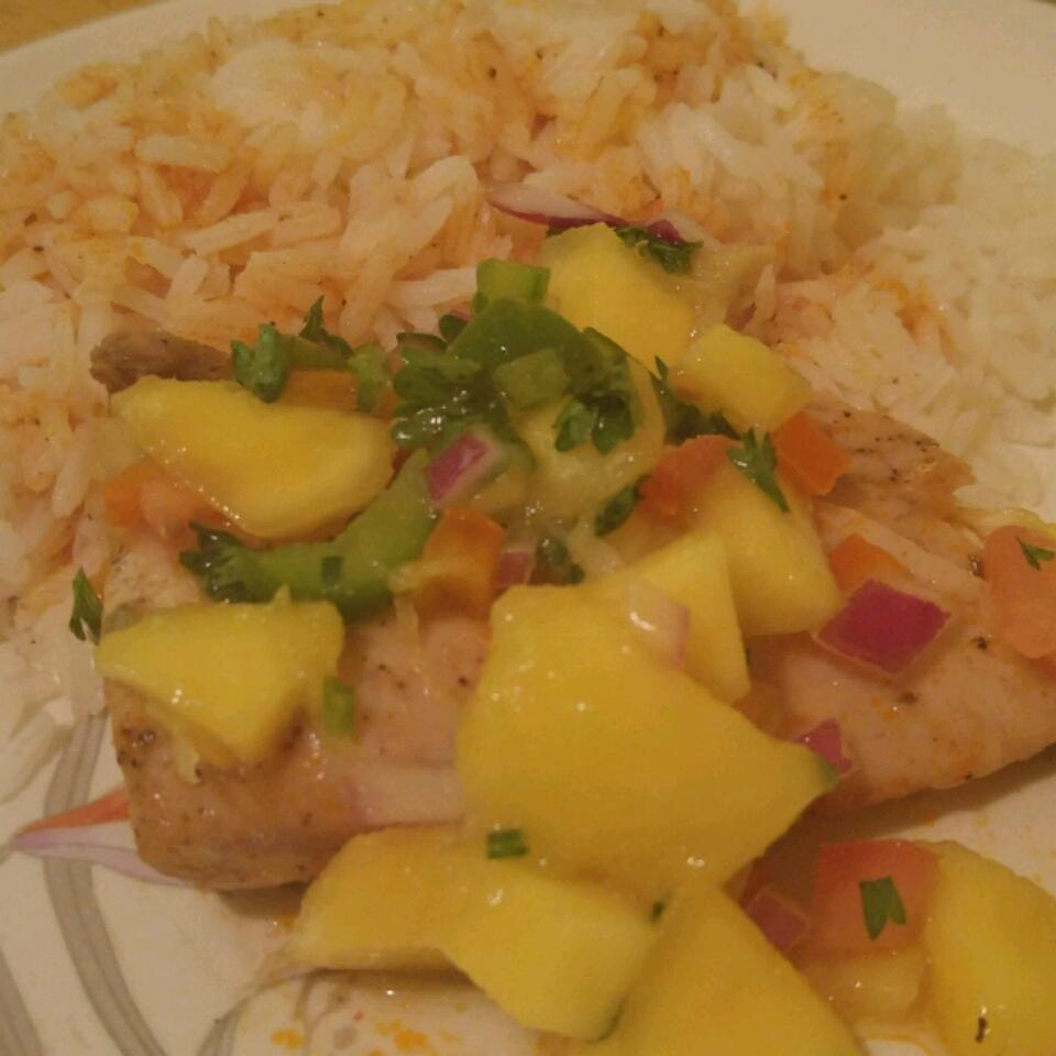 Mahi Mahi with Coconut Rice and Mango Salsa Kerline Octave