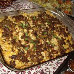 Macaroni and Cheese with Caramelized Onions and Bacon GenghisConnie