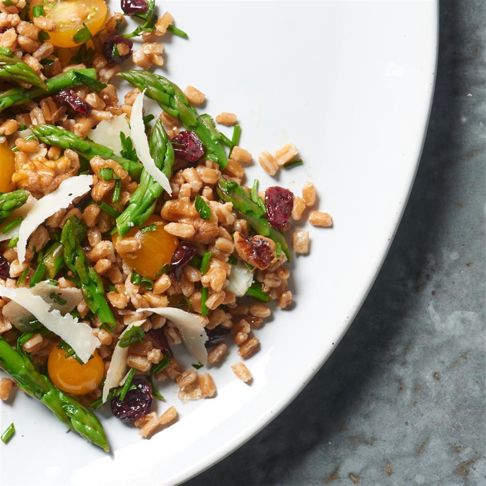 Farro Salad with Asparagus and Parmesan Allrecipes Magazine