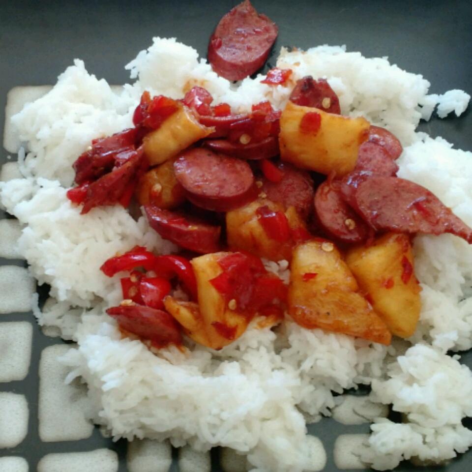 Hawaiian Pineapple Sweet & Sour Smoked Sausage Idahosa Edokpayi