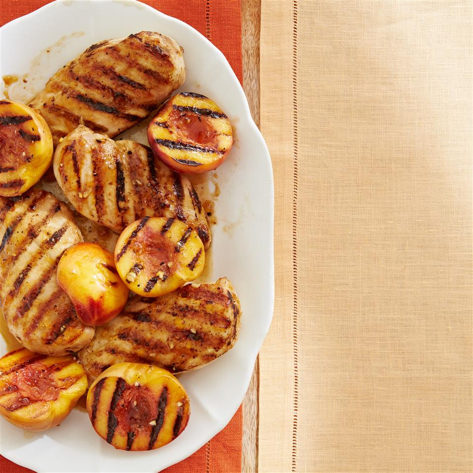 Grilled Chicken with Peach Sauce Allrecipes Magazine