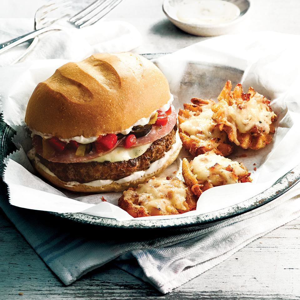 Salami Provolone Burger