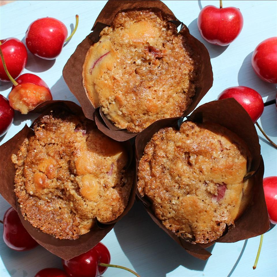Gluten-Free Cherry Cobbler Muffins
