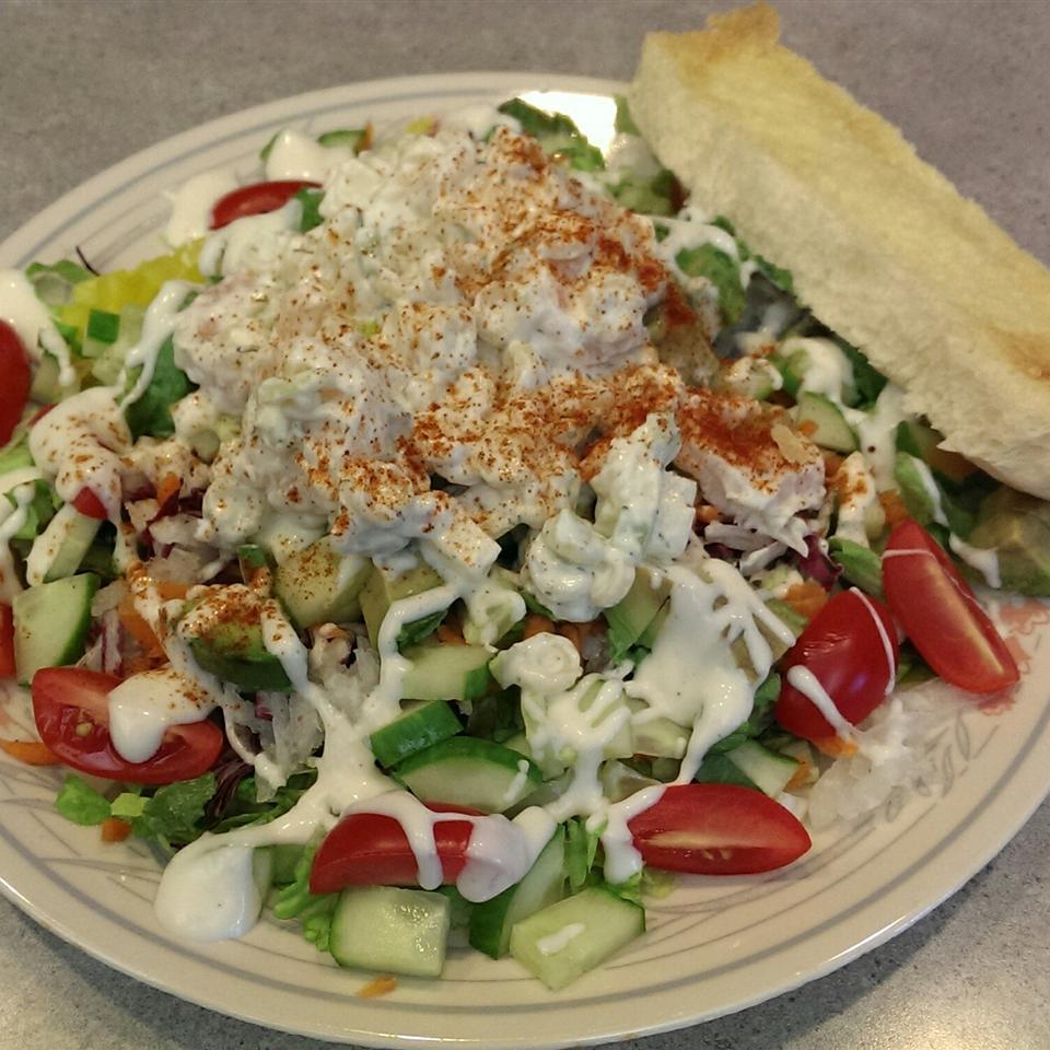 Grandma Bellows' Lemony Shrimp Macaroni Salad with Herbs Denise