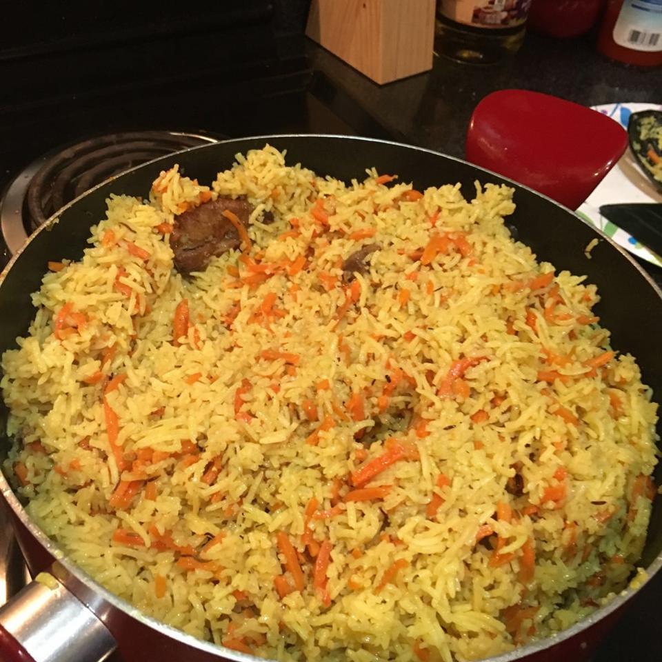 Uzbek Plov (Lamb and Rice Pilaf) Dr Bonbon
