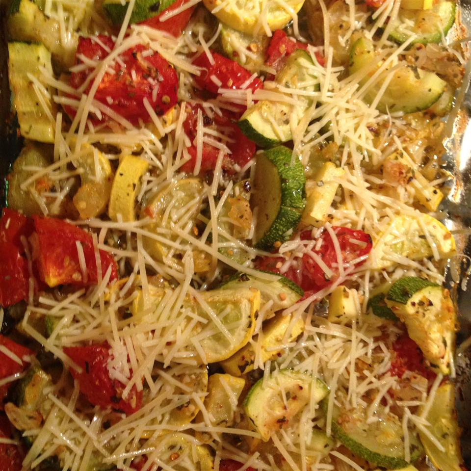 Roasted Garlic Zucchini and Tomatoes Crystal Smith Lester