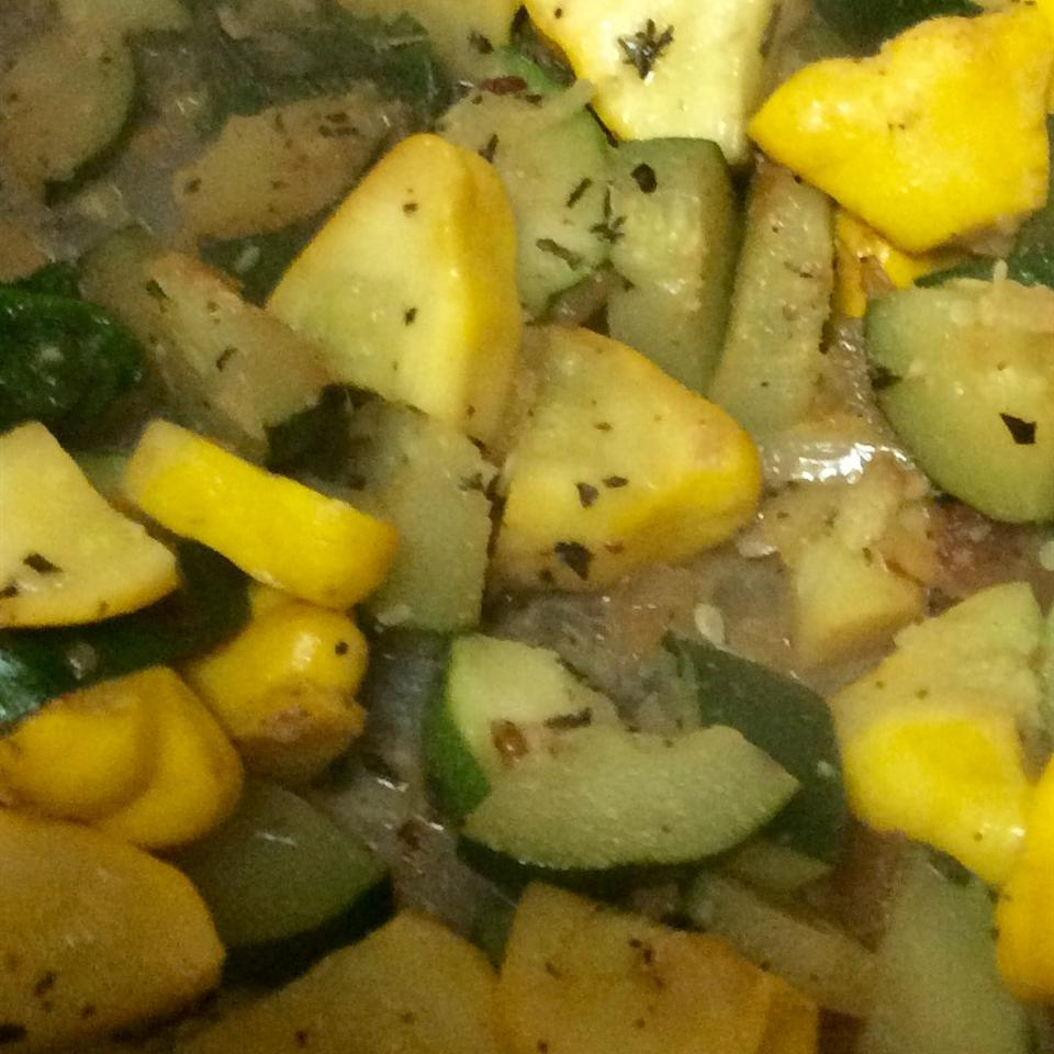 Sauteed Patty Pan Squash