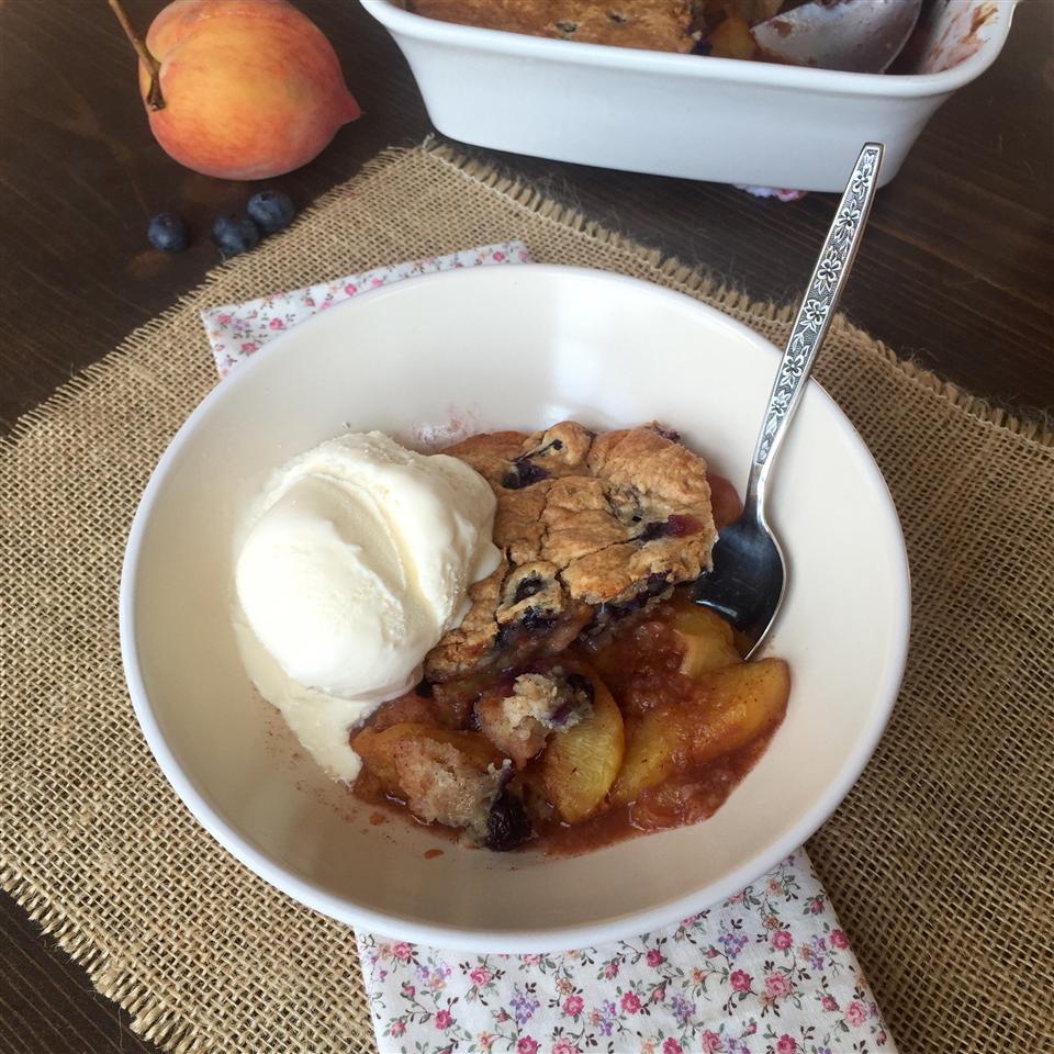 Gluten-Free Blueberry Muffin Peach Cobbler