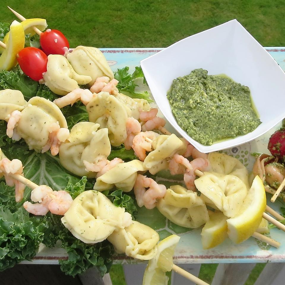 Shrimp and Tortellini Skewers