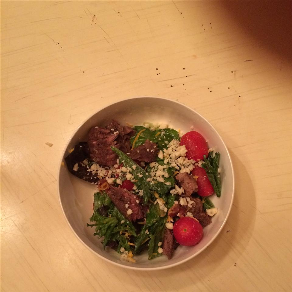 Bacon Blue Cheese Flat Iron Salad