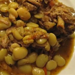 Neck Bones and Lima Beans Cazuela