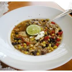 Chicken Soup With Black Beans and Corn IMVINTAGE