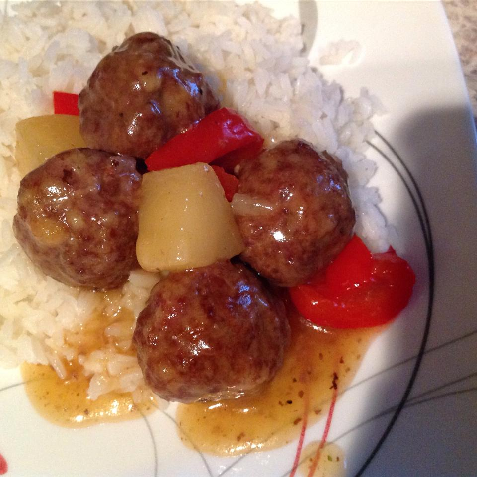 Waikiki-Style Meatballs mariaportes
