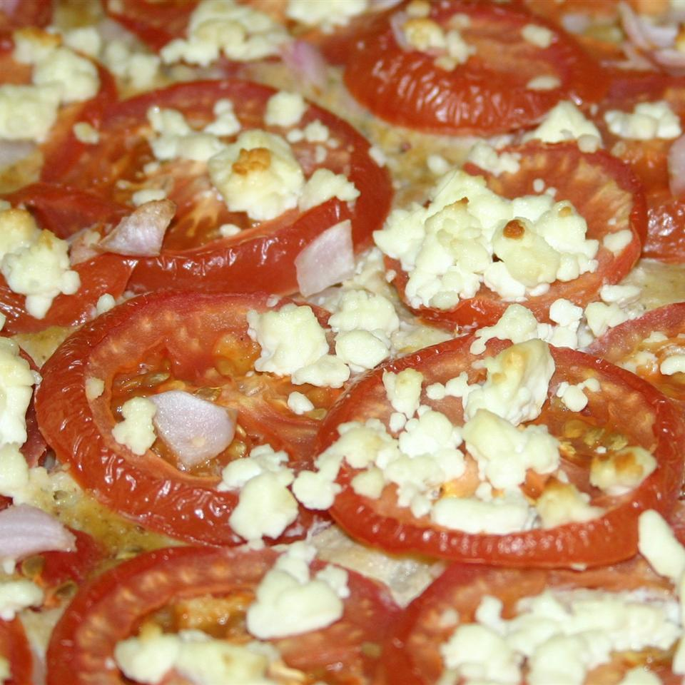 Squash with Tomato and Feta Cheese Denise Plum