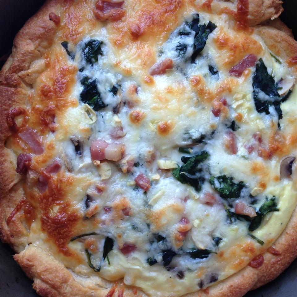 Egg Breakfast Pizza BurntSienna