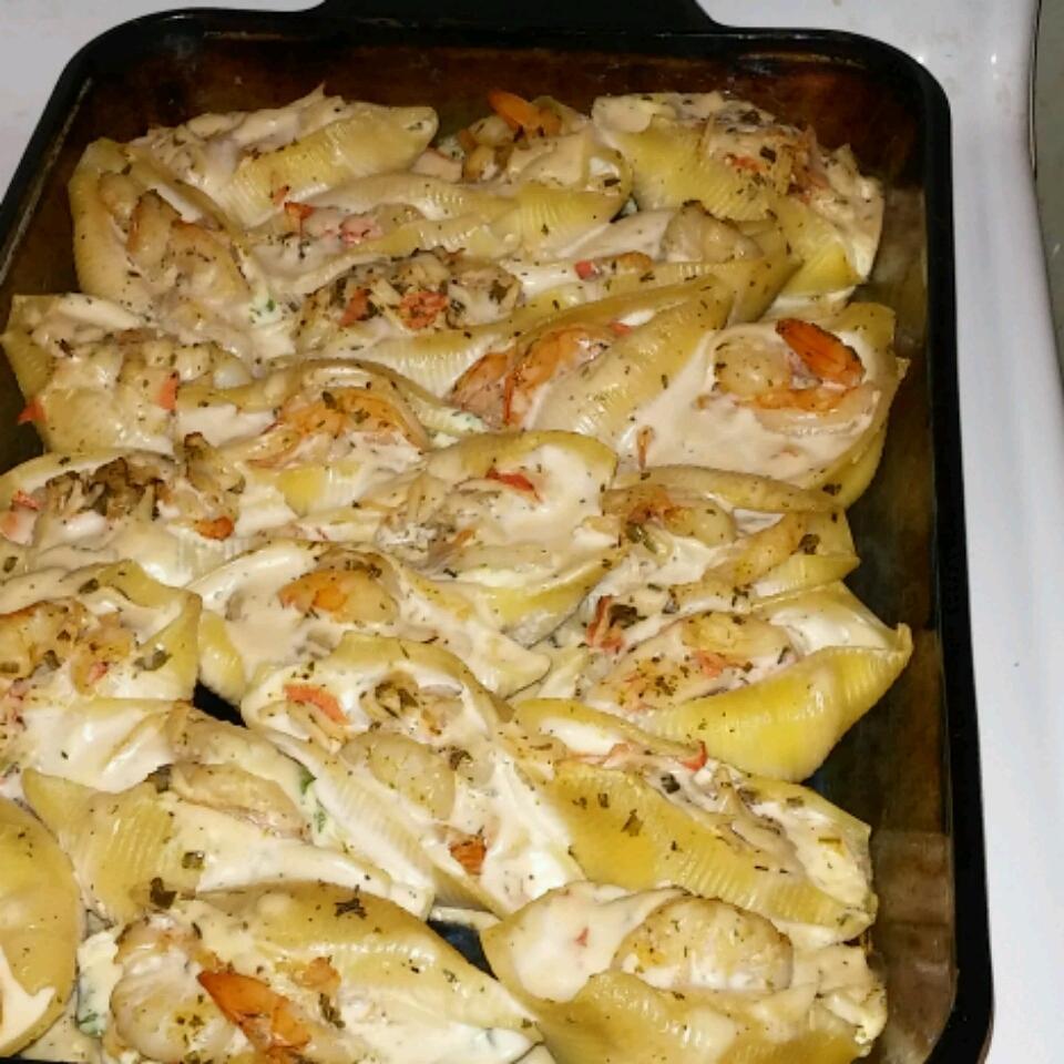 Crab and Seafood Stuffed Shells MamaTish
