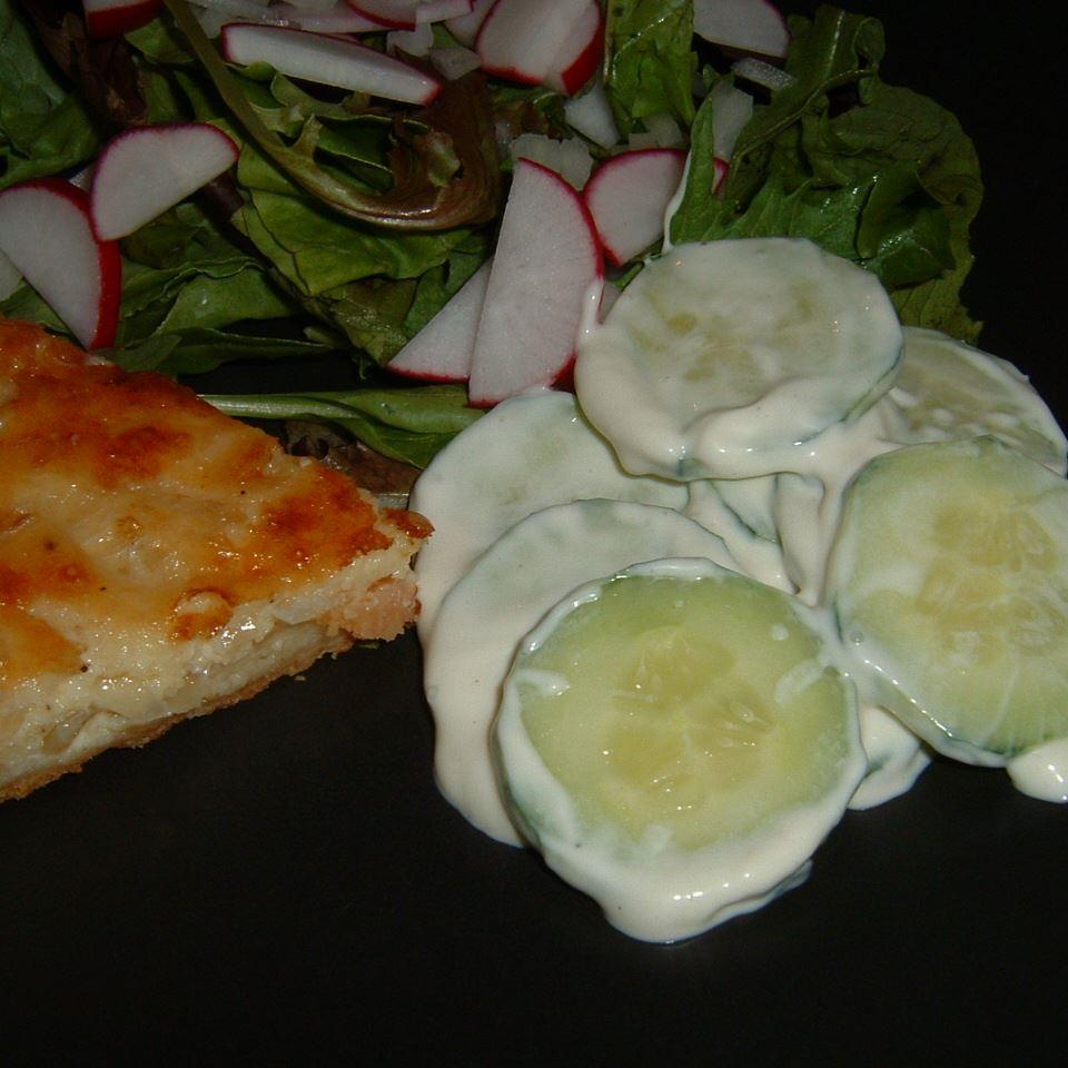 Creamed Cucumber Slices