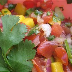 Avocado, Tomato and Mango Salsa ehreng