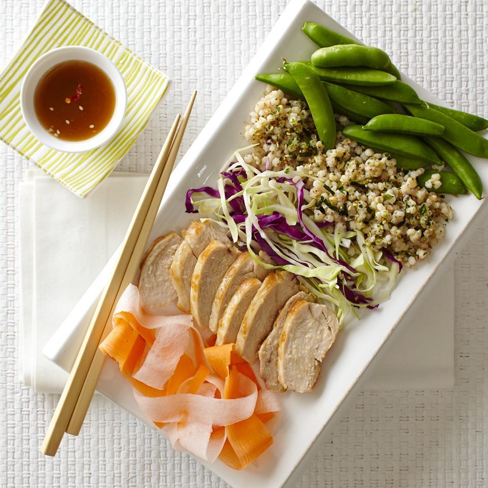 Asian Veggies, Chicken and Sorghum Grain Bowl