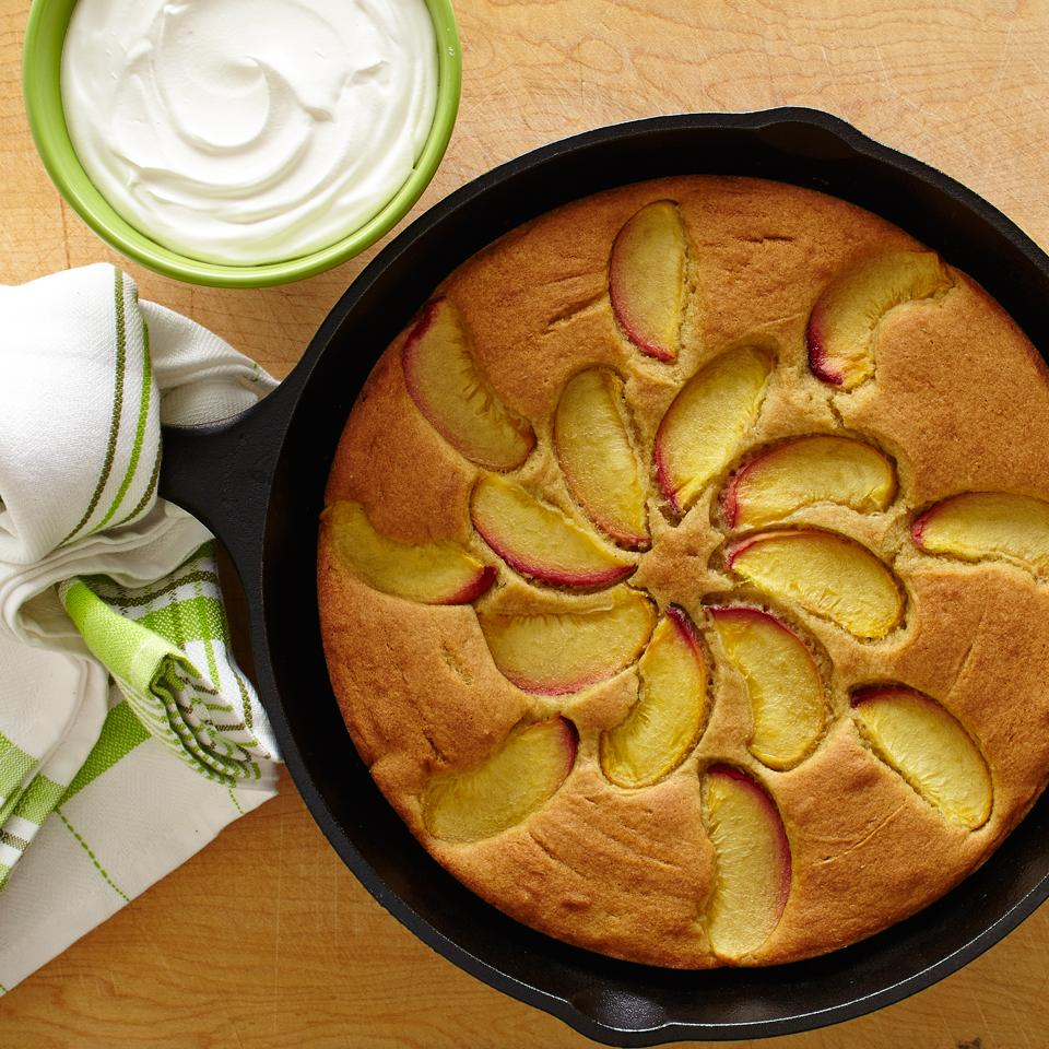 Peach Skillet Cake with Sorghum Flour Trusted Brands