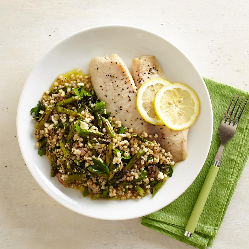 Sorghum Pilaf with Roasted Asparagus