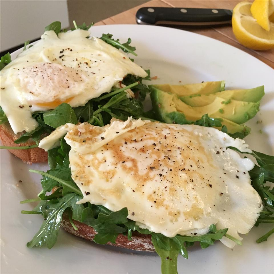 Open Faced Egg Sandwiches with Arugula Salad Mary McBride