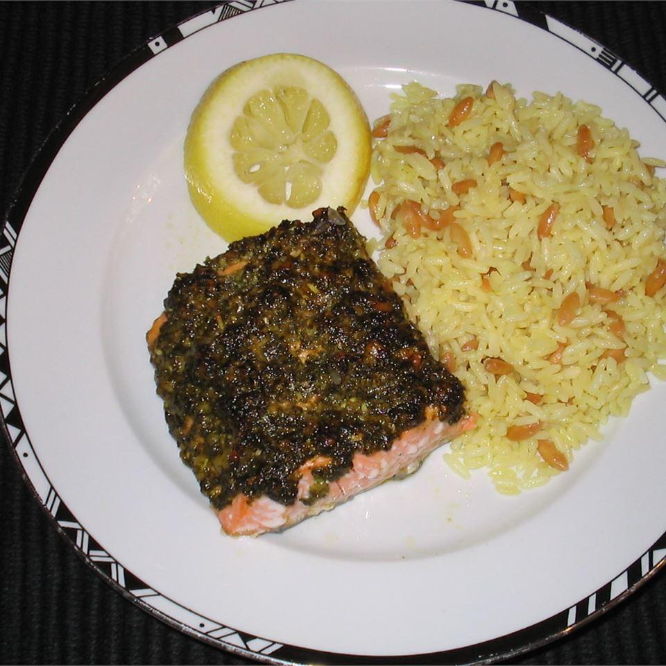 Stephan's Broiled Salmon Pesto Alex C.
