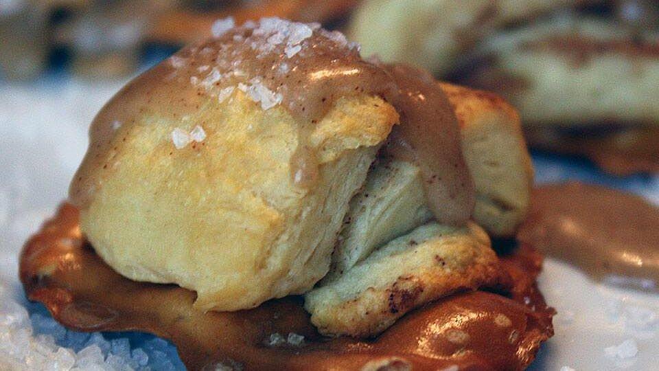 Salted Caramel Pretzel Roll Bite