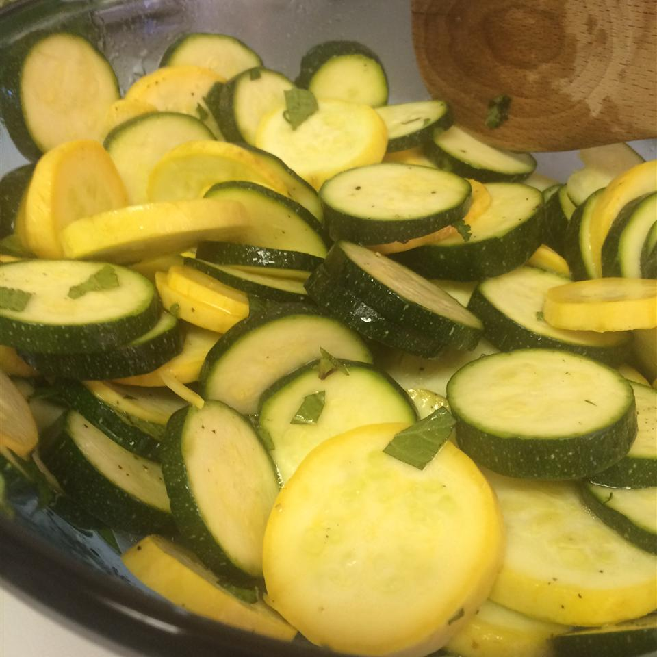 Zucchini Mint Salad Rayjean Carter