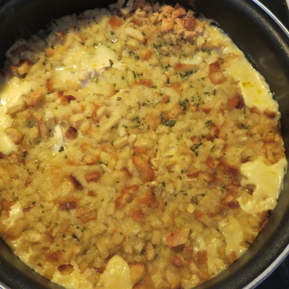 Quick and Easy Chicken and Stuffing Casserole