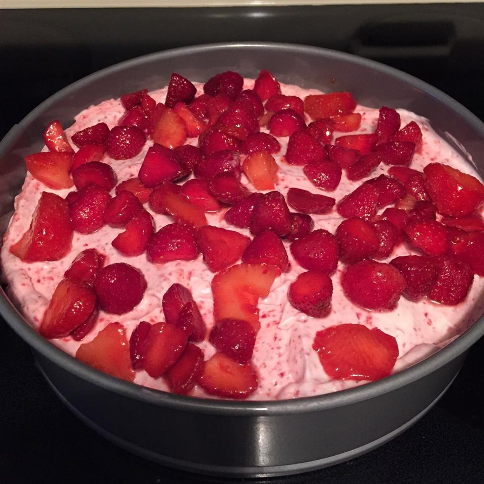 White Chocolate Strawberry Mousse Pie