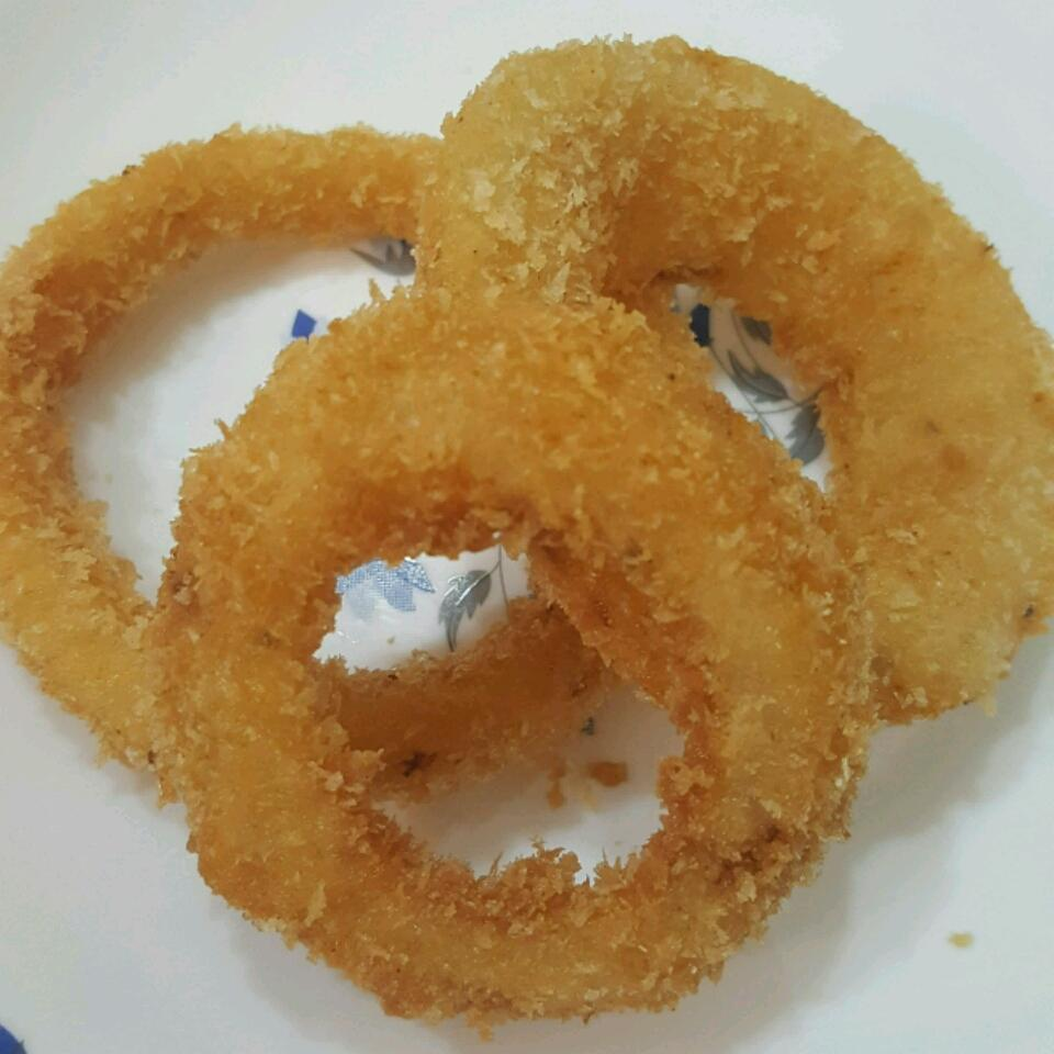 Making Crispy Onion Rings tayaba