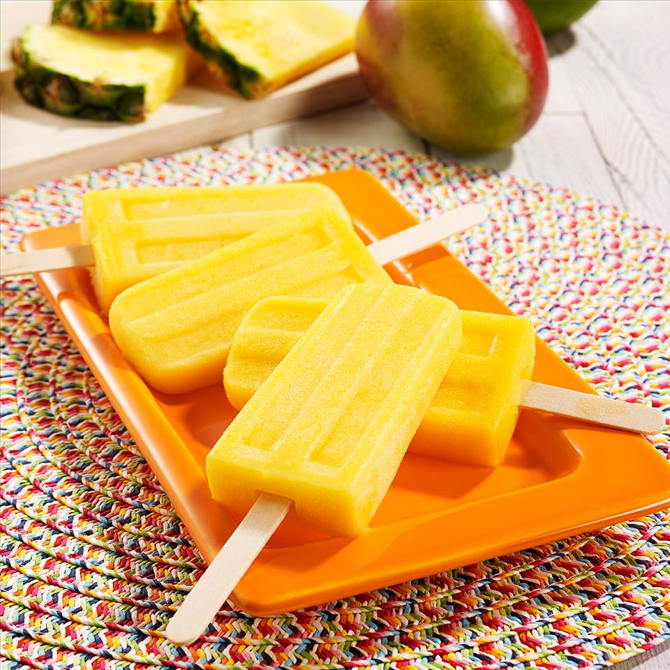 Mango Pineapple Ice Pops