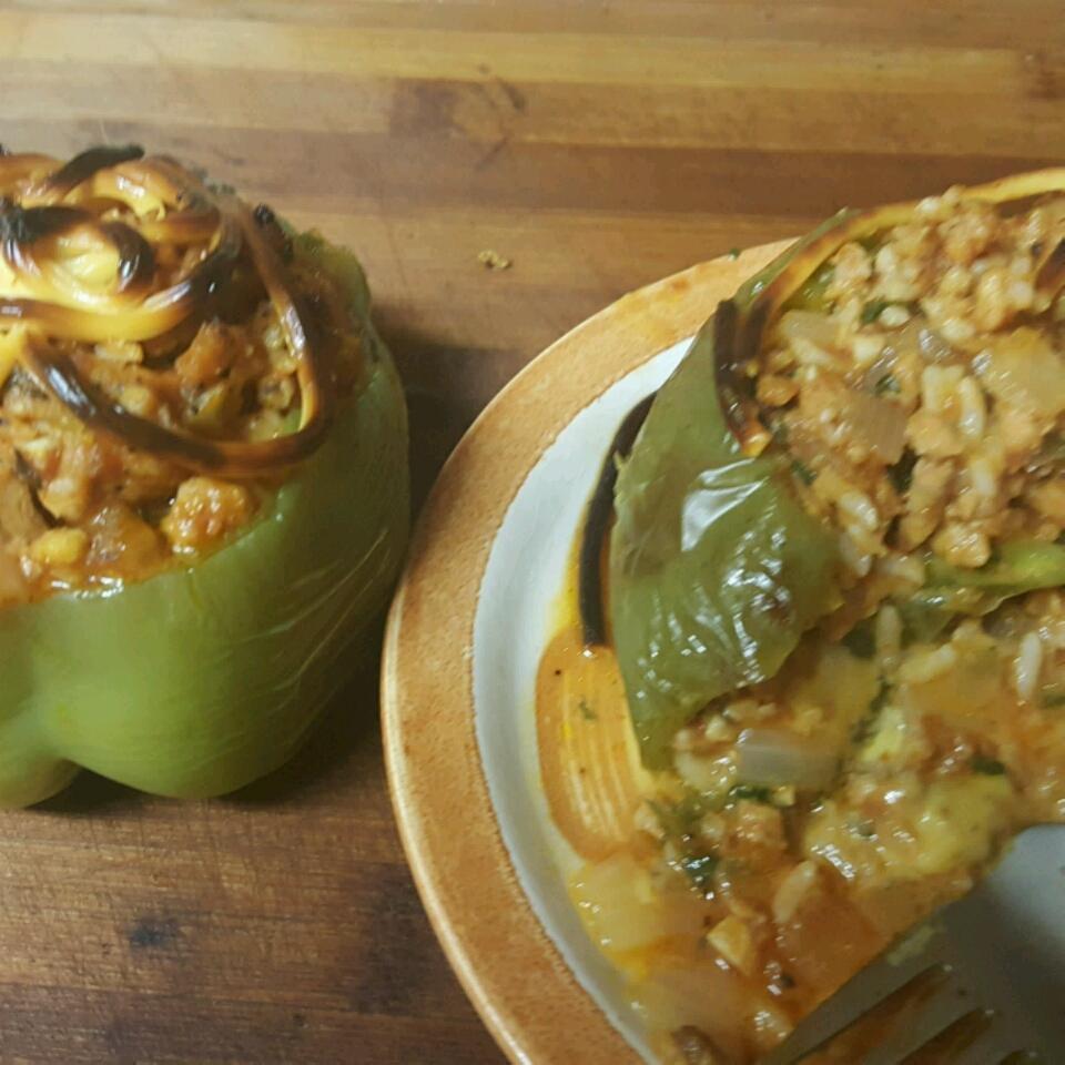 Chorizo Stuffed Bell Peppers Jr Lopez
