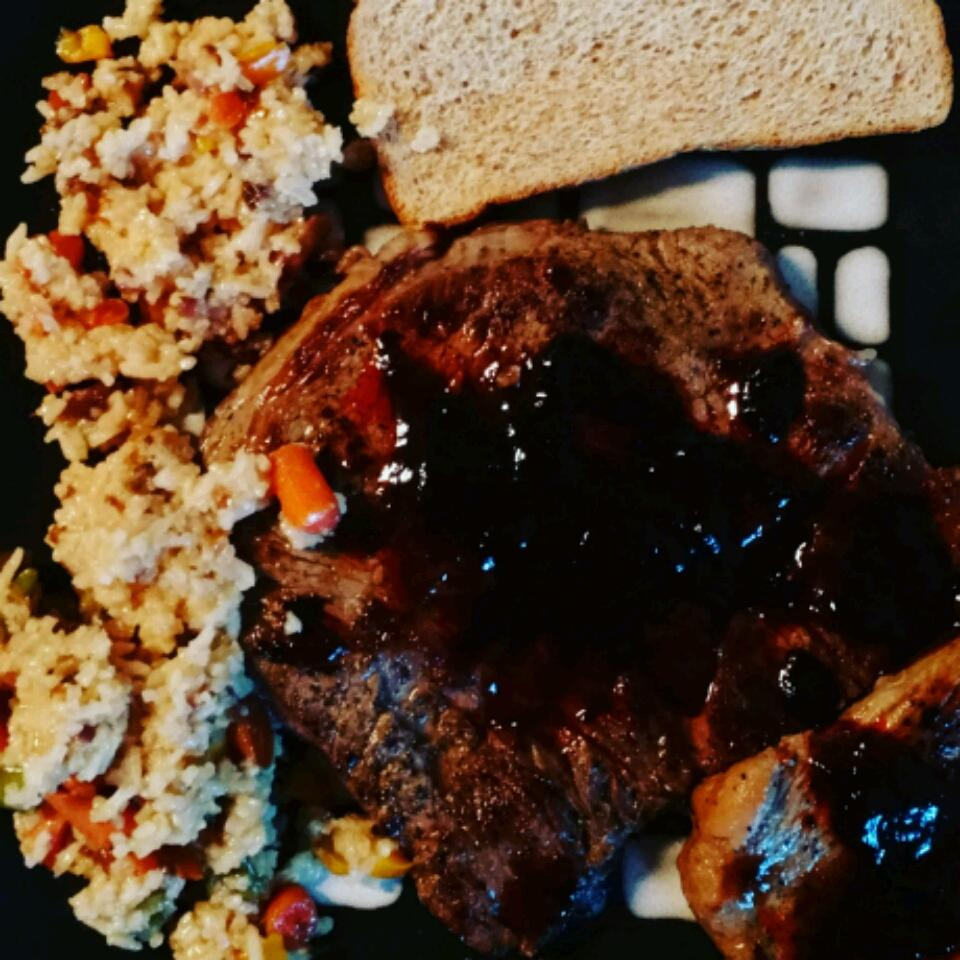 Minute Steaks with Barbeque Butter Sauce Idahosa Edokpayi
