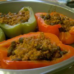 Taco-Stuffed Pepper Cups Kaley_Rae